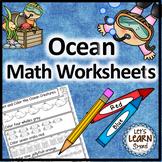 Ocean Math, Ocean Animals, Math Worksheets, Ocean Theme, o