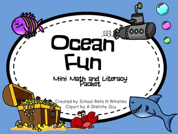 Ocean Themed Mini Math and Literacy Packet