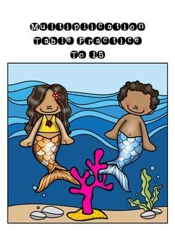 Ocean Themed Multiplication Practice { Freebie }