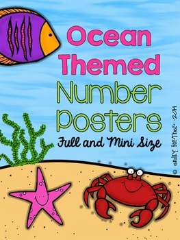 Ocean Themed Number Posters