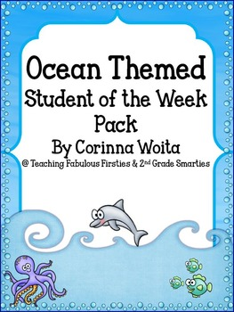 Ocean Themed Student of the Week Pack: 3 Different Ocean T
