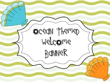 Ocean Themed Welcome Banner