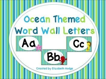 Ocean Themed Word Wall Letters