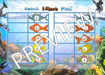 Ocean Topic maths- 1 more than fishing activity differentiated