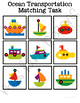 Ocean Transportation Matching Folder Game for students wit