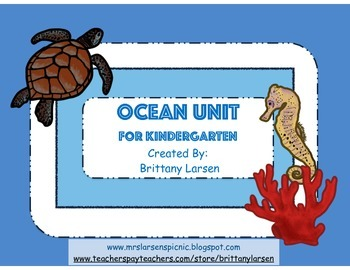 Ocean Unit for Kindergarten
