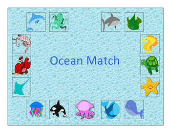 Ocean Vocabulary Matching Board