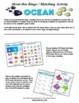 Ocean Vocabulary Matching / Bingo Activity w/ Flashcards
