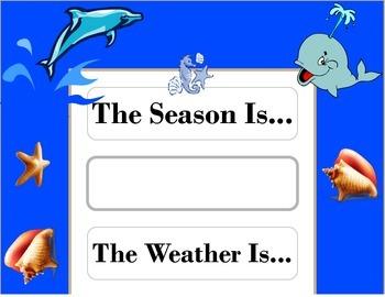 Ocean Weather Chart! Ocean Bulletin Board! Ocean Theme! Oc