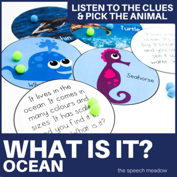 Ocean: What is it? Animal Clue Game