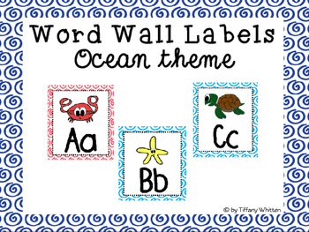 Ocean Word Wall Labels