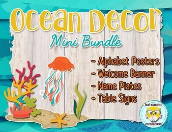 Ocean theme Classroom Decor Set