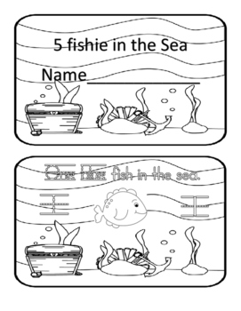 Ocean themed counting book