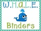 Ocean/Beach Theme WHALE Binder and Poster
