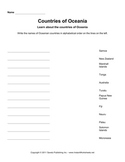 Oceania Worksheets