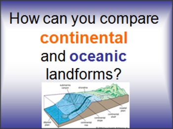 Oceanic vs Continental Landforms