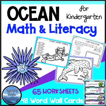 Ocean Activities: Ocean Language and Math and Word Wall fo