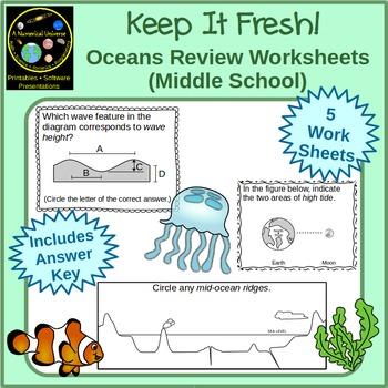 Oceans Worksheets