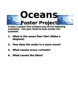 Oceans Poster Project