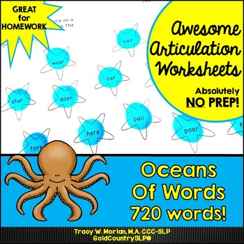 Oceans of Words Awesome Articulation Worksheets 720 Words