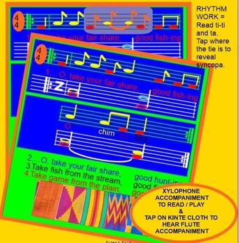 Ochimbo Bird~ African Song~ do-mi-la~ Syncopa~SMARTboard