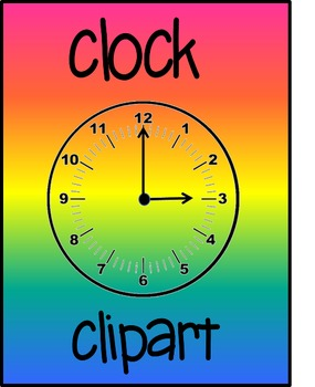 Clock clipart every 5 minutes for commercial use-perfect f
