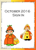 October 2016 Sign In Sheets - Editable