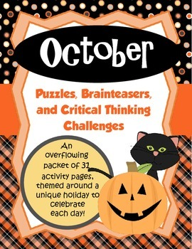 October Brain Teasers and Critical Thinking Challenges- En
