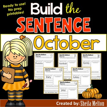 October Build the Sentence
