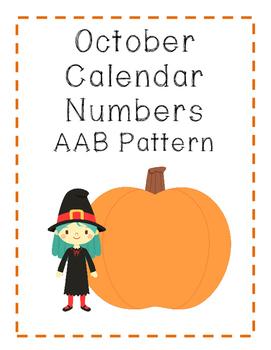 October Calendar Letters: AAB Pattern
