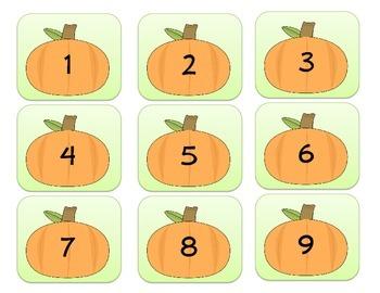 October Calendar Numbers Set