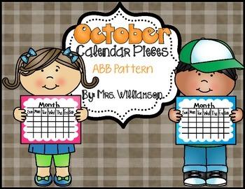 October Calendar Pieces- ABB Pattern
