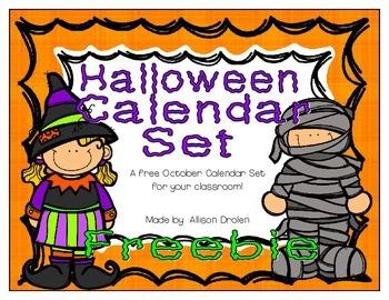 October Calendar Set! FREEBIE