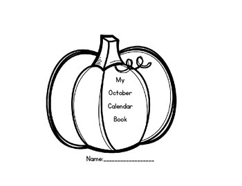 October Calendar and Daily Review/Homework