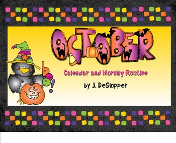October Calendar and Morning Meeting