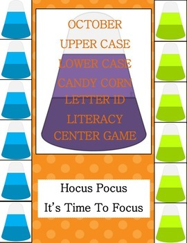 Candy Corn Upper-Lower Case Letter Id Literacy Centers Weeks 1-4
