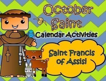 October Catholic Saint Calendar Activities - Saint Francis