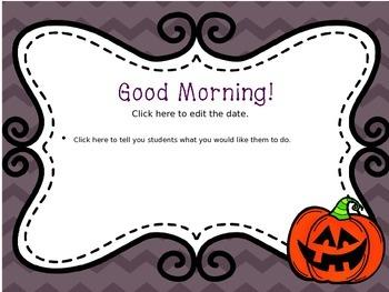October Chevron Morning Message--EDITABLE!