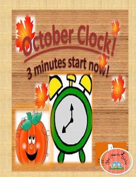 October Clock!  A 3 minute Countdown!
