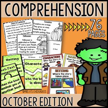 Kindergarten & First Grade Comprehension: OCTOBER
