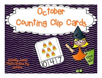 October Counting Frame Clip Cards