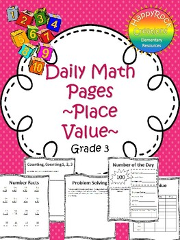 October Daily Math Pages (Focus on Place Value)