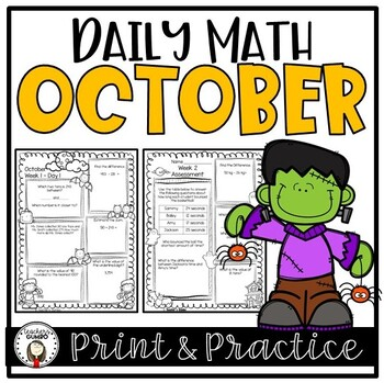 Daily Math and Assessments - October