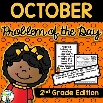 October Daily Word Problems {Second Grade}