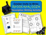 October (Halloween) Descriptive Writing Activity:  Spookap