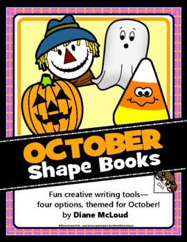 October (Fall) Shape Books for Writing