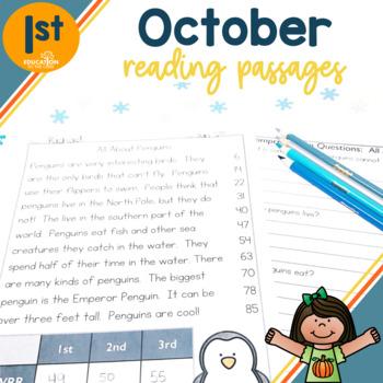 October Fluency Passages