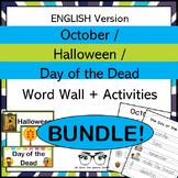October Halloween & Day of the Dead Word Wall & Activities