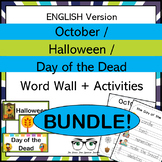 October Halloween & Day of the Dead Word Wall & Activities