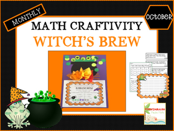 October Halloween Witch's Brew Math Craftivity